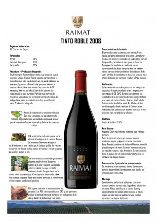 RAIMAT TINTO ROBLE 2008