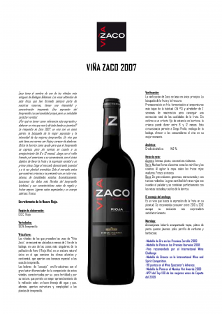 VIÑA ZACO 2007