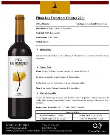 FINCA LOS TRENZONES CRIANZA 2014